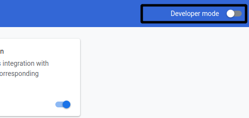 developer mode image